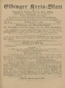 Kreis-Blatt des Königlich Preußischen Landraths-Amtes zu Elbing, Nr. 43 Dienstag 3 Juni 1890