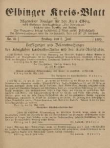 Kreis-Blatt des Königlich Preußischen Landraths-Amtes zu Elbing, Nr. 44 Freitag 6 Juni 1890