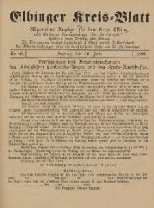Kreis-Blatt des Königlich Preußischen Landraths-Amtes zu Elbing, Nr. 48 Freitag 20 Juni 1890