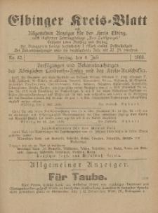 Kreis-Blatt des Königlich Preußischen Landraths-Amtes zu Elbing, Nr. 52 Freitag 4 Juli 1890