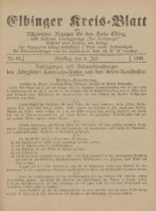 Kreis-Blatt des Königlich Preußischen Landraths-Amtes zu Elbing, Nr. 53 Dienstag 8 Juli 1890