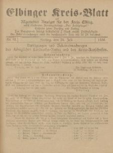 Kreis-Blatt des Königlich Preußischen Landraths-Amtes zu Elbing, Nr. 58 Freitag 25 Juli 1890