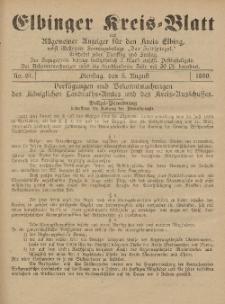 Kreis-Blatt des Königlich Preußischen Landraths-Amtes zu Elbing, Nr. 61 Dienstag 5 August 1890