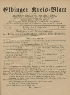 Kreis-Blatt des Königlich Preußischen Landraths-Amtes zu Elbing, Nr. 70 Freitag 5 September 1890