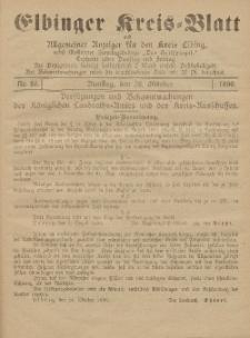 Kreis-Blatt des Königlich Preußischen Landraths-Amtes zu Elbing, Nr. 86 Freitag 31 Oktober 1890