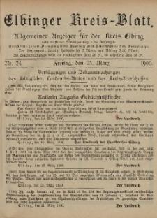 Kreis-Blatt des Königlich Preußischen Landraths-Amtes zu Elbing, Nr. 24 Freitag 23 März 1900