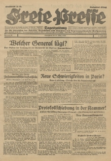Freie Presse, Nr. 58 Sonnabend 9. März 1929 5. Jahrgang
