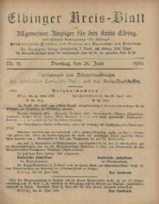 Kreis-Blatt des Königlich Preußischen Landraths-Amtes zu Elbing, Nr. 51 Dienstag 26 Juni 1900