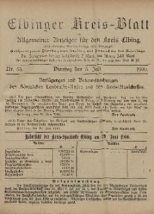 Kreis-Blatt des Königlich Preußischen Landraths-Amtes zu Elbing, Nr. 53 Dienstag 3 Juli 1900
