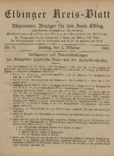 Kreis-Blatt des Königlich Preußischen Landraths-Amtes zu Elbing, Nr. 81 Freitag 5 Oktober 1900