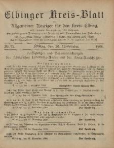 Kreis-Blatt des Königlich Preußischen Landraths-Amtes zu Elbing, Nr. 97 Freitag 30 November 1900
