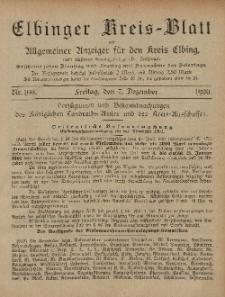 Kreis-Blatt des Königlich Preußischen Landraths-Amtes zu Elbing, Nr. 100 Freitag 7 Dezember 1900