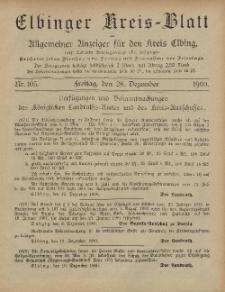 Kreis-Blatt des Königlich Preußischen Landraths-Amtes zu Elbing, Nr. 105 Freitag 28 Dezember 1900