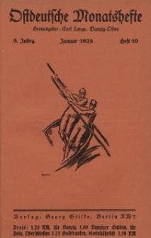 Ostdeutsche Monatshefte Nr. 10, Januar 1928, 8 Jahrgang