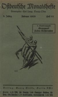 Ostdeutsche Monatshefte Nr. 11, Februar 1928, 8 Jahrgang