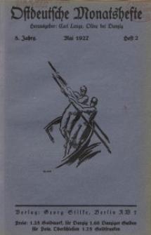 Ostdeutsche Monatshefte Nr. 2, Mai 1927, 8 Jahrgang
