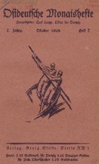 Ostdeutsche Monatshefte Nr. 7, Oktober 1926, 7 Jahrgang