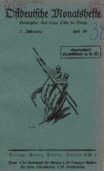 Ostdeutsche Monatshefte Nr. 10, 1927, 7 Jahrgang