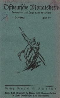 Ostdeutsche Monatshefte Nr. 11, 1927, 7 Jahrgang