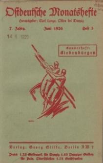 Ostdeutsche Monatshefte Nr. 3, Juni 1926, 7 Jahrgang