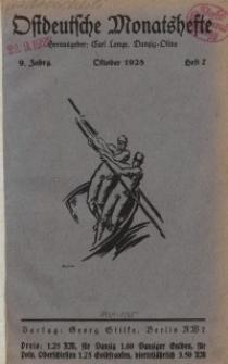 Ostdeutsche Monatshefte Nr. 7, Oktober 1928, 9 Jahrgang