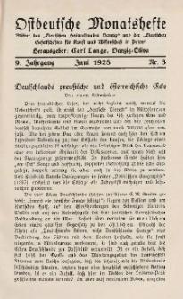 Ostdeutsche Monatshefte Nr. 3, Juni 1928, 9 Jahrgang