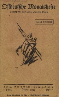 Ostdeutsche Monatshefte Nr. 7, Oktober 1923, 4 Jahrgang