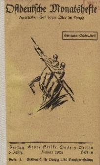 Ostdeutsche Monatshefte Nr. 10, Januar 1924, 4 Jahrgang