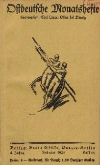 Ostdeutsche Monatshefte Nr. 11, Februar 1924, 4 Jahrgang