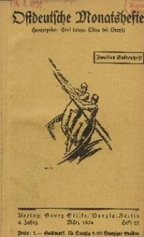 Ostdeutsche Monatshefte Nr. 12, März 1924, 4 Jahrgang