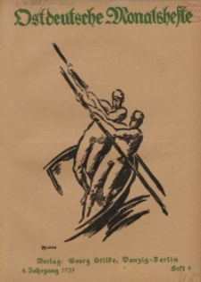 Ostdeutsche Monatshefte Nr. 4, Juli 1923, 4 Jahrgang
