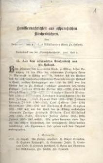 Familiennachrichten aus ostpreussischen Kirchenbüchern