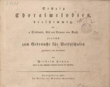 Sechzig Choralmelodien, dreistimmig für 1 Diskant, Alt und Tenor oder Baß