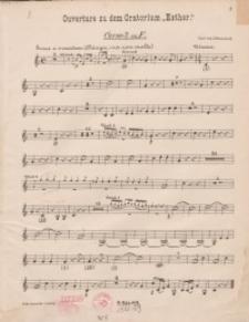"Ouverture zu dem Oratorium ""Esther"" : h"
