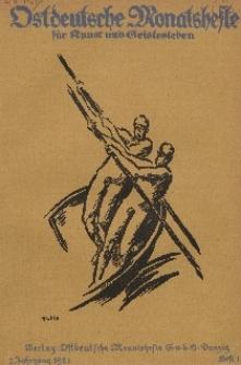 Ostdeutsche Monatshefte Nr. 1, April 1921, 2 Jahrgang