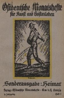 Ostdeutsche Monatshefte Nr. 2, Mai 1921, 2 Jahrgang