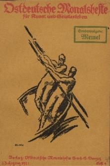 Ostdeutsche Monatshefte Nr. 4, Juli 1921, 2 Jahrgang