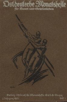 Ostdeutsche Monatshefte Nr. 5, August 1921, 2 Jahrgang