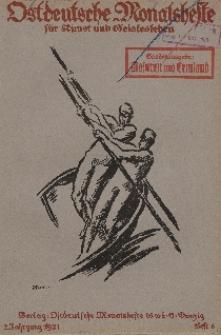Ostdeutsche Monatshefte Nr. 6, September 1921, 2 Jahrgang