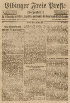 Freie Presse, Nr. 1 Freitag 8. Januar 1926 2. Jahrgang