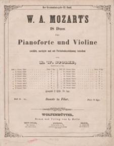 18 Duos für Pianoforte und Violine. Sonate VIII in Fdur. Heft 8.