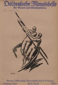 Ostdeutsche Monatshefte Nr. 4, Juli 1920, 1 Jahrgang