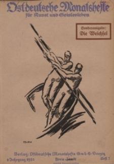 Ostdeutsche Monatshefte Nr. 7, Oktober 1920, 1 Jahrgang