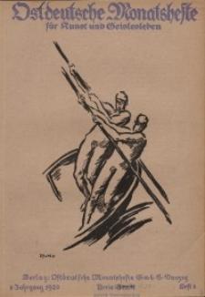 Ostdeutsche Monatshefte Nr. 8, November 1920, 1 Jahrgang
