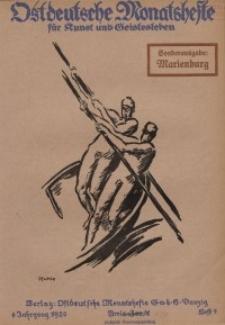 Ostdeutsche Monatshefte Nr. 9, Dezember 1920, 1 Jahrgang