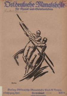 Ostdeutsche Monatshefte Nr. 10, Januar 1921, 1 Jahrgang