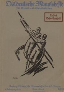 Ostdeutsche Monatshefte Nr. 12, März 1921, 1 Jahrgang