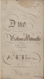 Duo. Op. 2. Violino et Violoncello