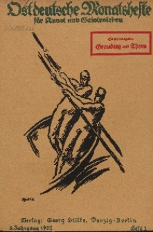 Ostdeutsche Monatshefte Nr. 1, April 1922, 3 Jahrgang