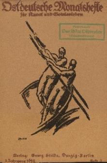 Ostdeutsche Monatshefte Nr. 2, Mai 1922, 3 Jahrgang